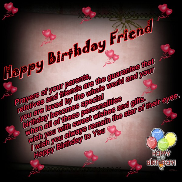Happy Birthday Wishes For Friend Christian