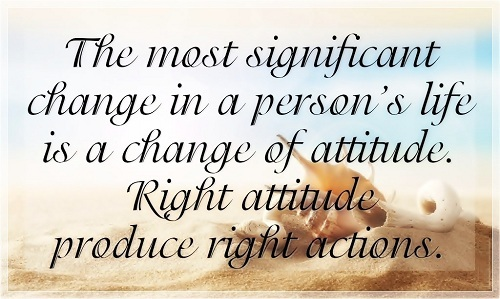 Right Attitude Lovely Quotes