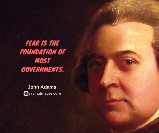 john adams quotes fear