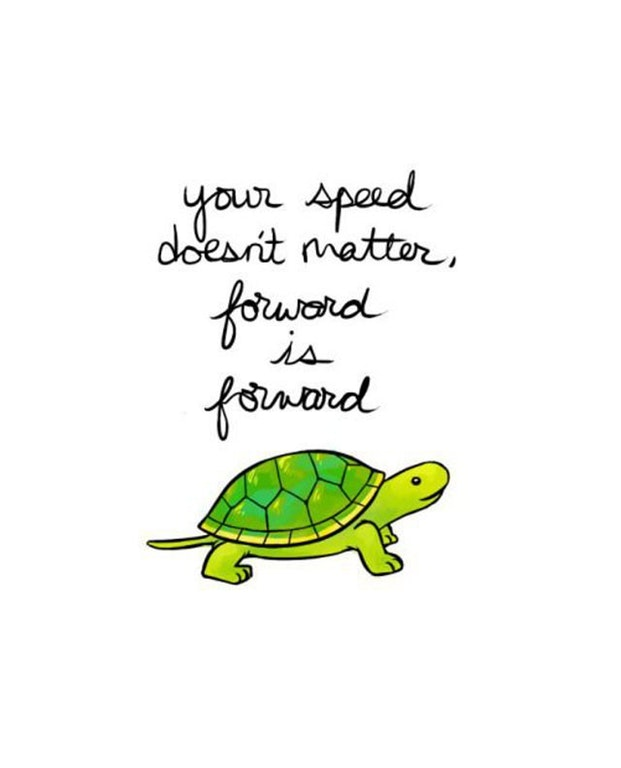 Your speed doesn't matter, forward is forward.