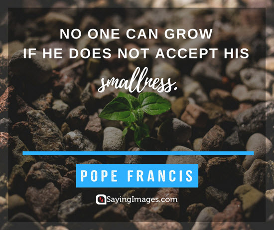 pope francis smallness quotes