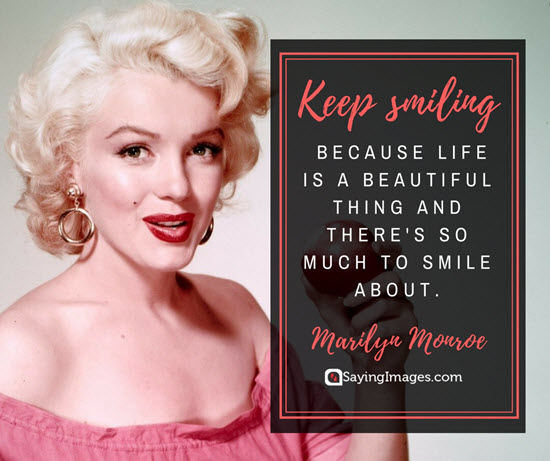 marilyn monroe smile quotes