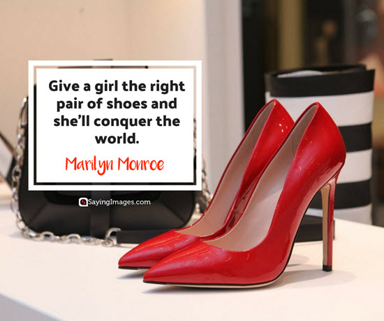 marilyn monroe shoes quotes
