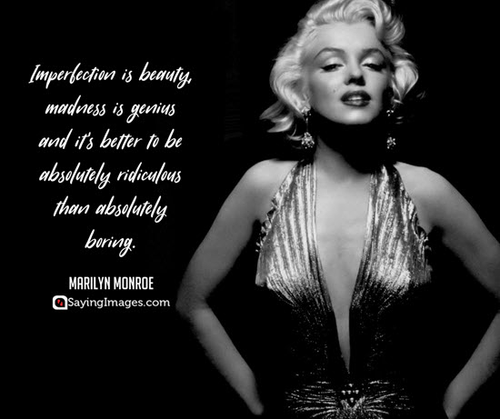 marilyn monroe imperfection quotes