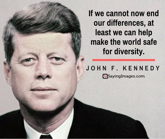 john f kennedy diversity quotes