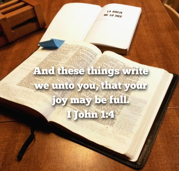 Bible Study table 1 John
