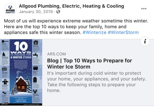 winter weather promotion ideas