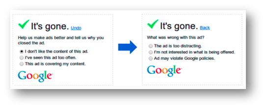 Pesquisa no anúncio do Google