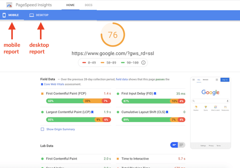 2020 holiday advertising best practices page speed insights google