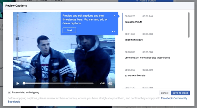 accessibility and inclusivity in advertising facebook captions
