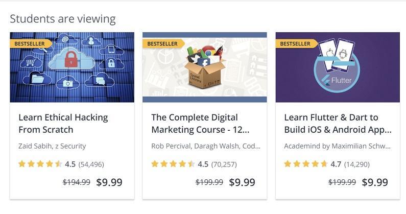 Contoh strategi pemasaran terbaik kursus Udemy