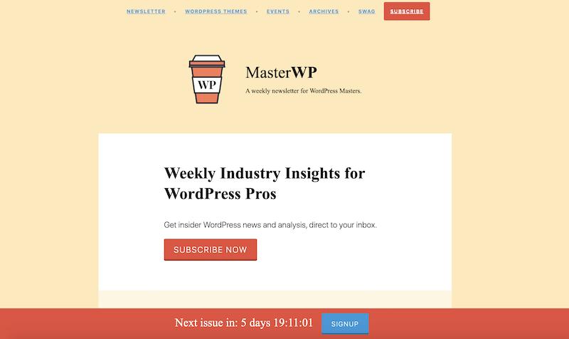 creative newsletter names masterWP