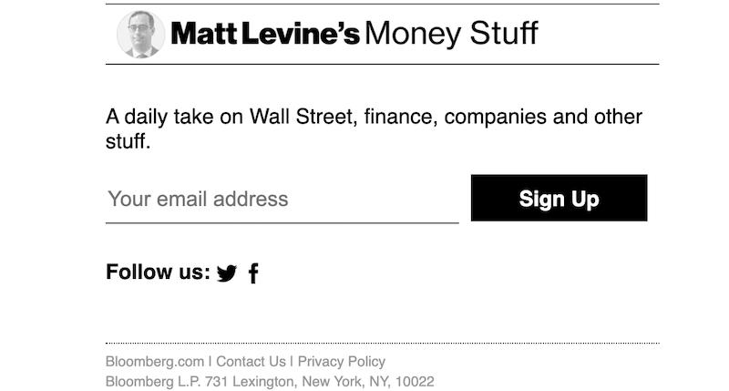 creative newsletter names money stuff