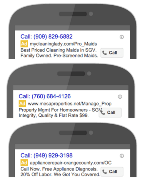 effective local marketing ideas leverage call-only ads examples