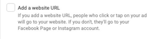 facebook click to call ads Reach Add Website URL
