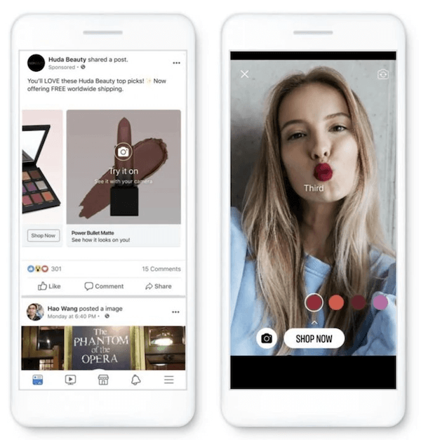 personalized facebook shopping ads example