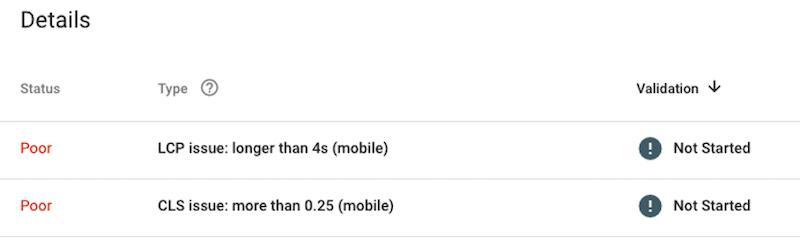 google page experience algorithm update core web vitals poor