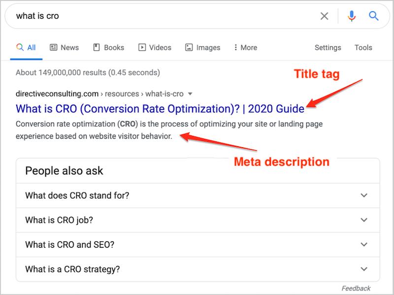 google sıralama faktörleri meta başlığı ve meta açıklaması