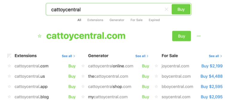 how to build an ecommerce website domain search