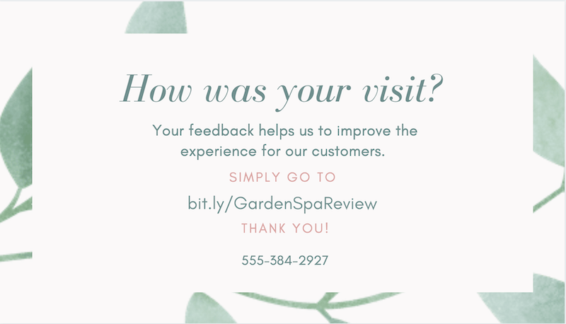 how to get more google reviews create a card