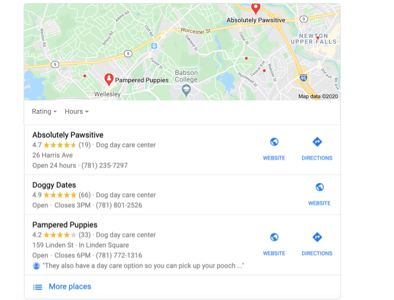 how to get on the first page of google get reviews local pack