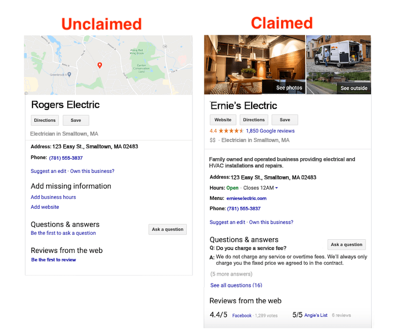 how to rank higher on google maps claimed vs unclaimed