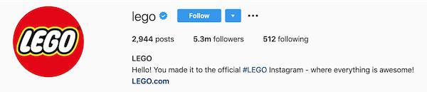 instagram bios lego