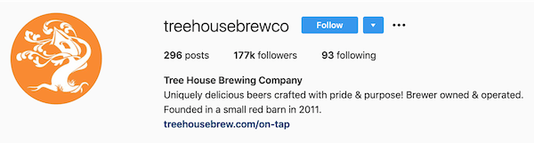 instagram bios tree house brewing co