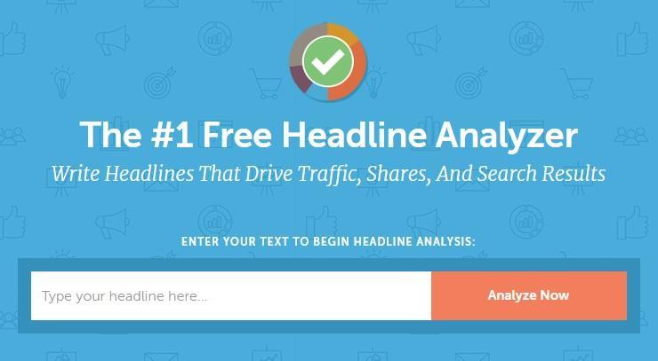 interactive content example: CoSchedule Headline Analyzer