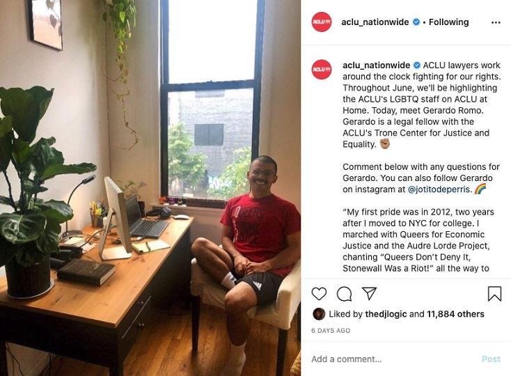 ACLU Instagram post