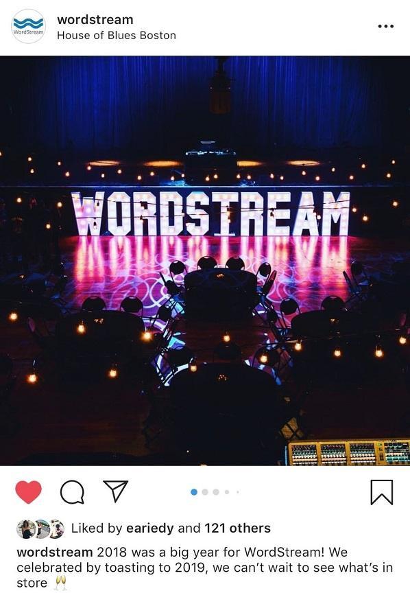 Publication Instagram de WordStream
