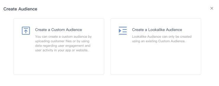 TikTok advertising audience upload option