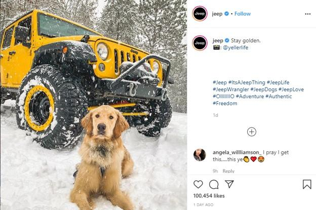 user-generated Instagram post from Jeep