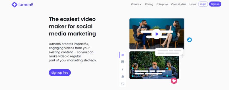 visual marketing tools lumen 5