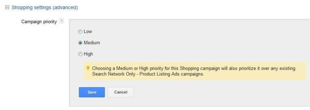 Configurações de anúncios do Google Shopping