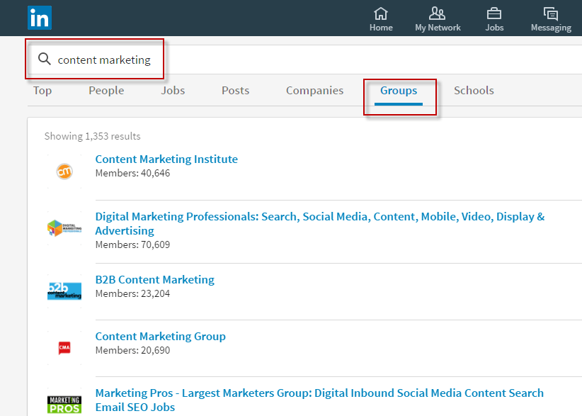 Working remotely LinkedIn groups online networking