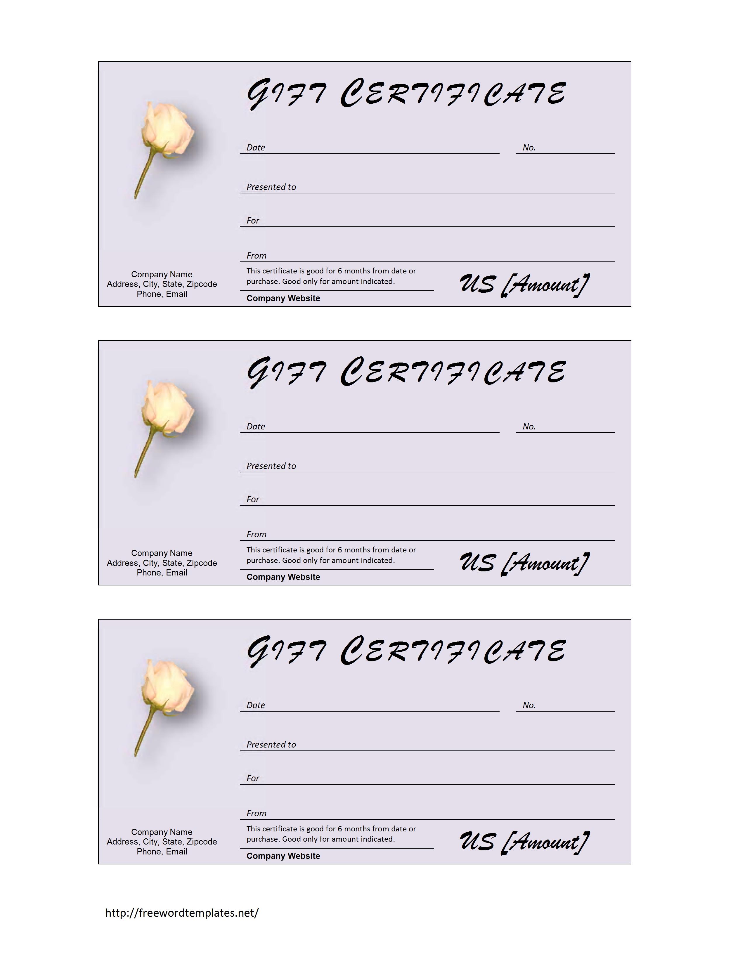 Sample Gift Certificate Template. 12 sample blank gift certificate ...