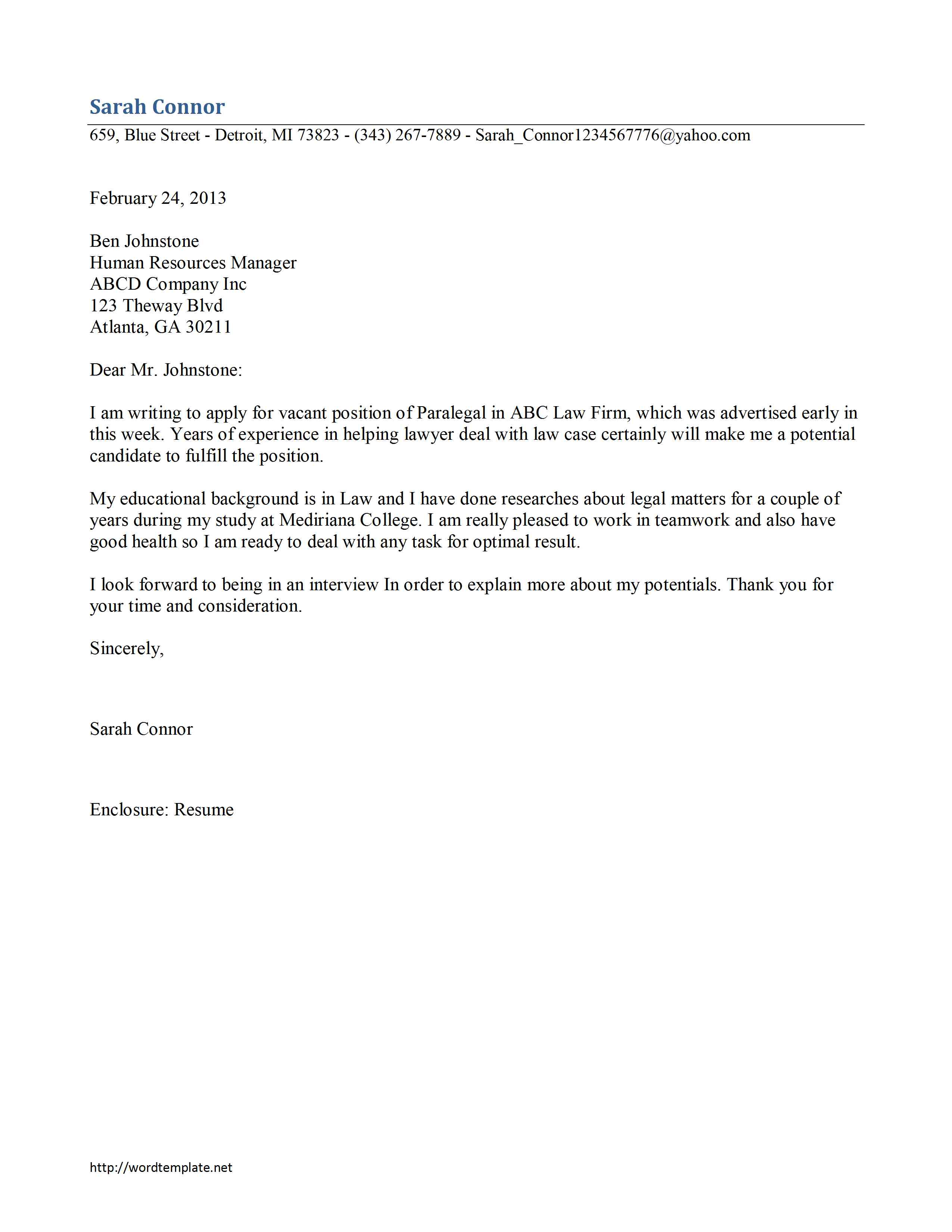 cover letter free microsoft word templates
