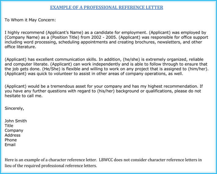 Nursing Reference / Recommendation Letters (9+ Sample Letters
