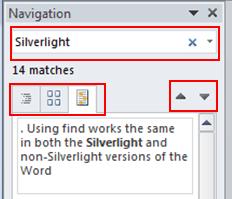 MS Office 2010 Find Menu