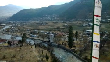 View of the Paro Valley from Rinpung Dzong