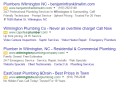 Plumbers Wilmington NC | Plumbers Google AdWords Search Results