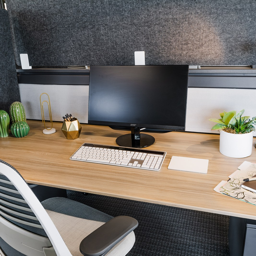 dedicated desk top view
