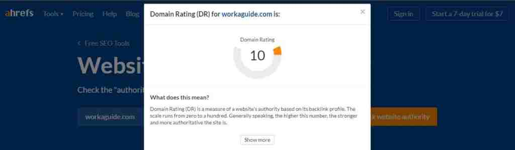 workaguide domain rating