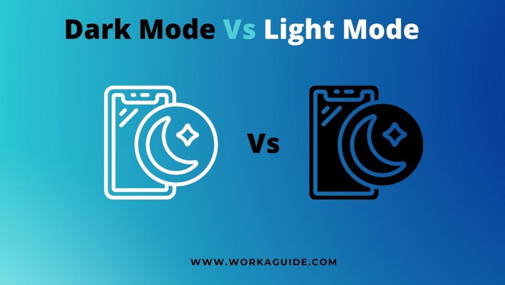 dark mode v light mode