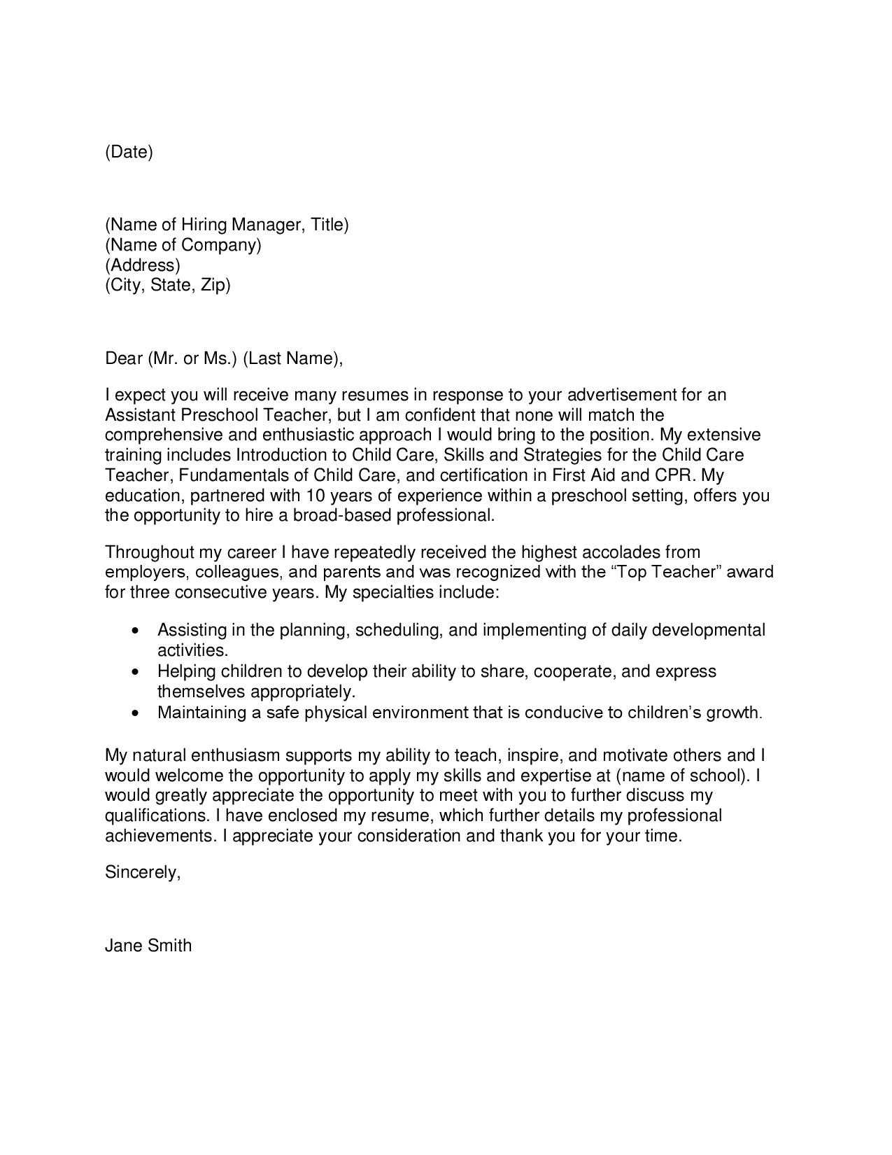 teacher cover letter and resumes