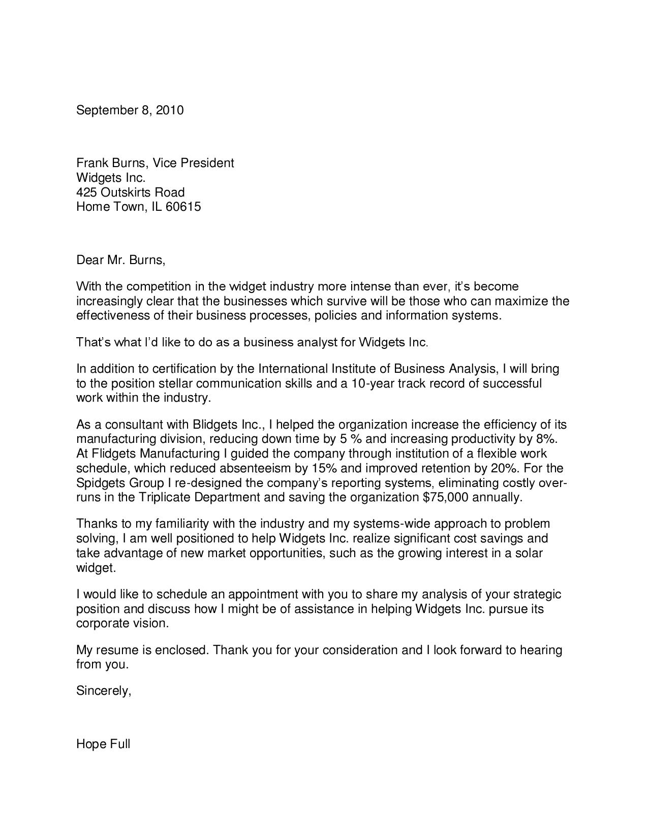 Strategist Cover Letter