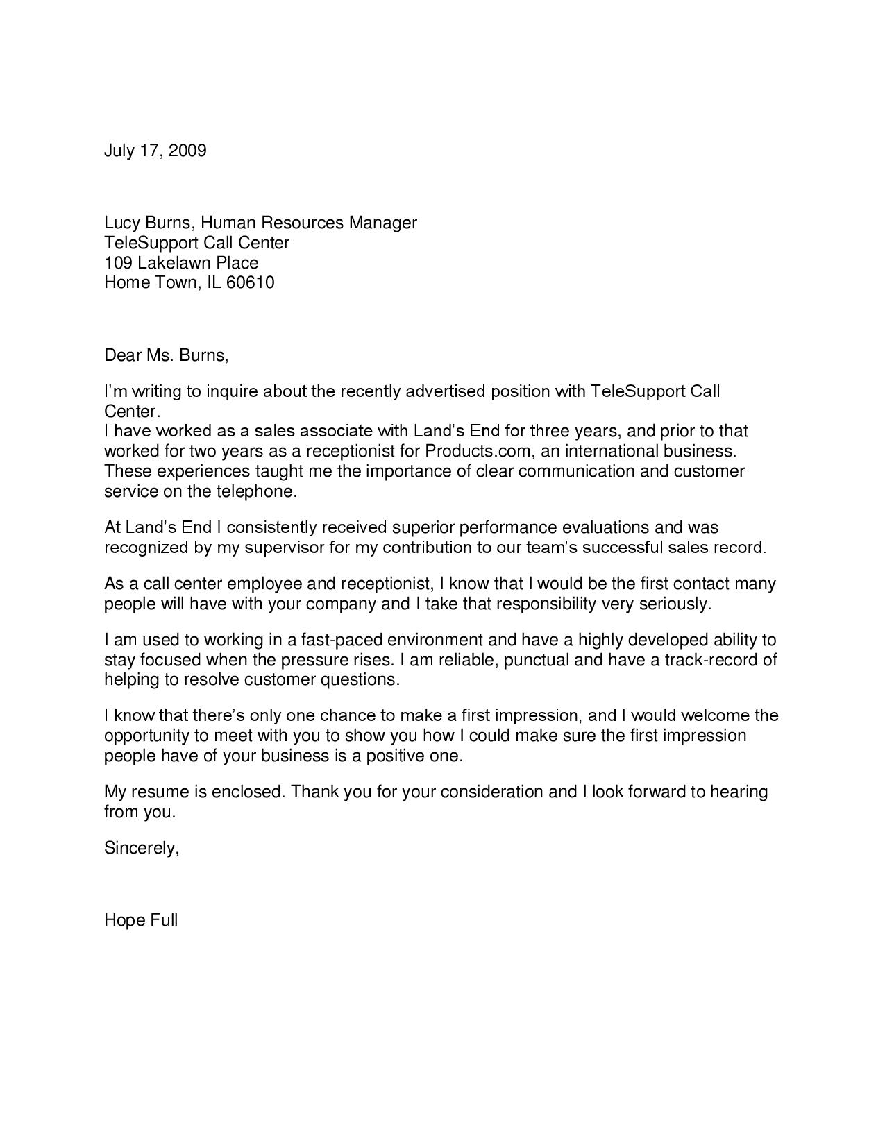 associate producer cover letter