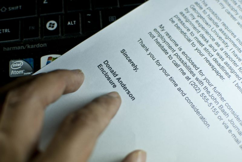 Cover Letter Closing Statements Tips And Examples
