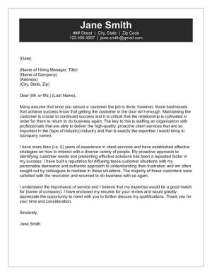 customer service cover letter - How Important Are Cover Letters